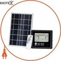 Прожектор на солнечной панели SMD LED 10W 300Lm 6400K IP65 черный