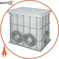 Колодец кабельный пластиковый e.manhole.360.260.320.cover, 360х260х320 мм с крышкой