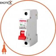 Модульный автоматический выключатель e.mcb.pro.60.1.C 50 new, 1р, 50А, C, 6кА new