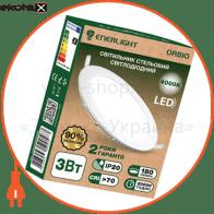 ORBIO3SMD60N Enerlight светодиодные светильники enerlight cвітильнік стельовий світлодіодний enerlight orbio 3вт 4000к