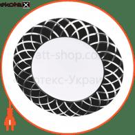 al780 7w круг, черный 560lm 4000k 108*28mm светодиодные светильники feron Feron 29488