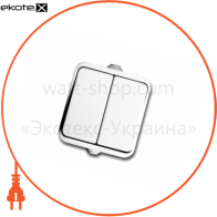 вимикач NEPTUN 2223 2-клавішний білий (IP44)