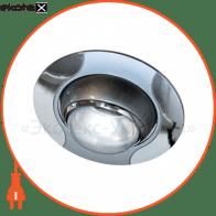 Встраиваемый светильник Feron 020 R-50 серый хром 17669