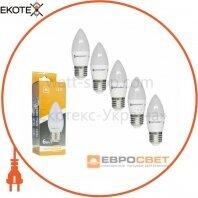Набор из 5шт Лампа светодиодная ЕВРОСВЕТ 6Вт 3000К С-6-3000-27 E27