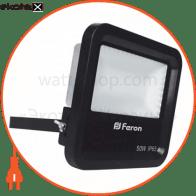 прожектор свiтлодiодний LL-650 50W белый 6400K 230V(225*200*63mm) чорний IP 65