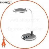 Настольный светодиодный светильник Feron DE1731 серебро