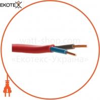 Кабель ВВГ-П нгд 2х2,5 красный ELCOR