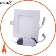Светильник светодиодный встраив e.LED.MP.Square.R.6.4500, квадрат, 6Вт, 4500К, 420Лм