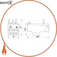 Enext i0110028 тепловое реле e.industrial.ukh.22.25, номин. ток 25а, гиап. регул. 18-25 а