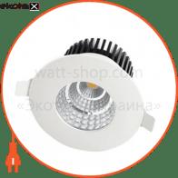 Світильник врізний вологозахищений круг,корпус метал d-90mm ip 65 COB LED 6W 4200K 410Lm, колір - білий (100-240v)