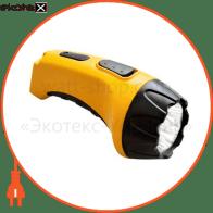 TH2293 аккум.фонарь (TH93A)DC желтый 4 LED