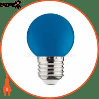 Лампа шарик SMD LED 1W E27 12Lm 220-240V синяя