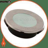 Світильник врізний круг,корпус метал d-65mm ip 20 LED 2W 6400K 100Lm, колір - мат.хром (220-240v)