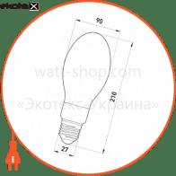лампа ртутно-вольфрамова e.lamp.hwl.e27.250, е27, 250 вт