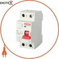 Выключатель дифференциального тока e.rccb.pro.A.2.25.30, 2р, 25А, 30мА., тип A