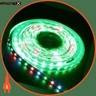 Світлодіодна стрічка, LS607/LED-RL 60SMD(5050)/m 14.4W/m 12V 5m*10*0.22mm RGB на бiлому IP65