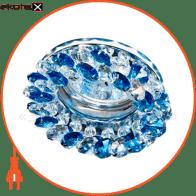 Встраиваемый светильник Feron CD4141 синий хром 19928