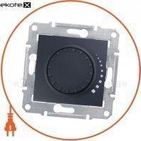 Sedna Светорегулятор двунаправленный поворотно-нажимной, без рамки 500VA графит