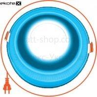 DownLight с подсветкой 3+3W встраиваемый круг, моно синий