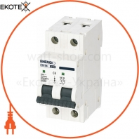 Автоматический выключатель ENERGIO EN 2P C 16А 6кА