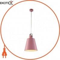 Светильник подвесной  NOVA Е27 розовый