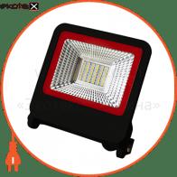EUROELECTRIC LED SMD Прожектор  черный с радиатором NEW 30W 6500K