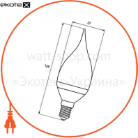 "eurolamp led лампа еко серія ""d"" candle on wind 6w e14 4000k (50) светодиодные лампы eurolamp Eurolamp LED-CW-06144(D)"