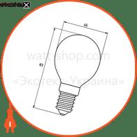 eurolamp led глоб g45 artdeco 4w e14 2700k (100)