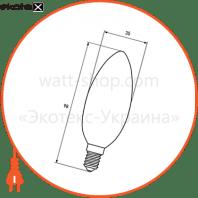 eurolamp led filament свічка artdeco 4w e27 2700k светодиодные лампы eurolamp Eurolamp LED-CL-04272(deco)