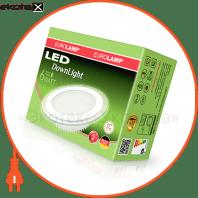 eurolamp led світильник круглий скло downlight 6w 3000k (30) светодиодные светильники eurolamp Eurolamp LED-DLR-6/3(скло)