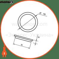eurolamp led світильник круглий скло downlight 6w 3000k (30)