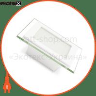 EUROLAMP LED Світильник квадратний скло Downlight 6W 3000K (30)