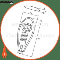 eurolamp led світильник вуличний класичний cob 50w 6000k (1)