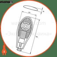eurolamp led світильник вуличний з відбівачем cob 30w 6000k (1)