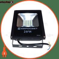 прожектор evro light ev-20-01 6400k 1600lm smd ev-20-01 6400k светодиодные светильники евросвет Евросвет 38969