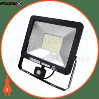 Прожектор з датчиком руху IP65 SMD LED 100W 6400K 5000lm 220-240v
