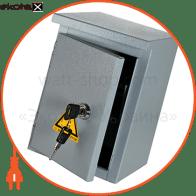 Шкаф e.mbox.stand.n.04.z металлическая, под 4мод., Герметичная IP54, навесной, с замком