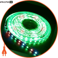 LS606/ SANAN LED-RL 30SMD(5050)/m 7.2W/m 12V 5m*10*0.22mm RGB на белом