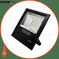 LL-841 1LED 100W белый 6400K 230V (335*70*290mm) Черный IP 65