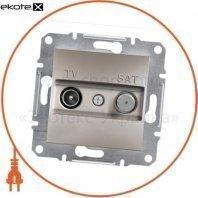Asfora TV-SAT Розетка оконечная - 1дБ, без рамки, бронзовый
