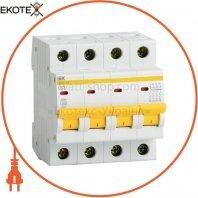 Автоматический выключатель ВА47-29 4Р 25А 4,5кА В IEK