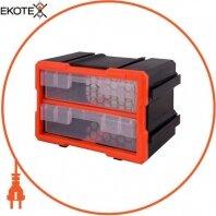Органайзер наборной e.toolbox.19, 2-секционный