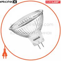 LED лампа MR16 12SMD 1W 5500K 220V GU5.3 Maxus