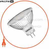 led лампа 3w яркий свет mr16  gu5.3  220v (1-led-144) светодиодные лампы maxus Maxus 1-LED-144