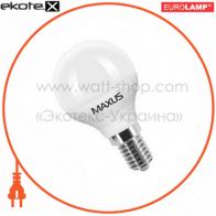 LED лампа G45 4.5W 3000K 220V E14 CR Maxus