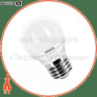 LED лампа 4W теплый свет G45 Е27 220V (1-LED-253)