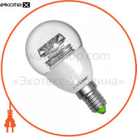 LED лампа G45 5W E14 4000K прозора Eurolamp