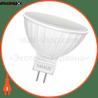 LED лампа MAXUS 3W яркий свет MR16  GU5.3 (1-LED-144-01)