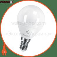 LED лампа 5W теплый свет G45 Е14 220V (1-LED-439)
