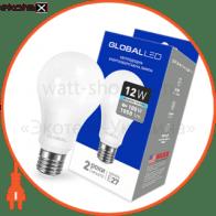 LED лампа GLOBAL A60 12W яркий свет 220V E27 AL (1-GBL-166) (NEW)